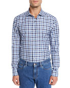 Ermenegildo Zegna Men's Two-Tone Check Sport Shirt