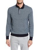 Ermenegildo Zegna Men's Textured-Knit Mock-Neck Sweater