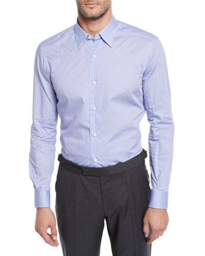 Men's Solid Woven Sport Shirt