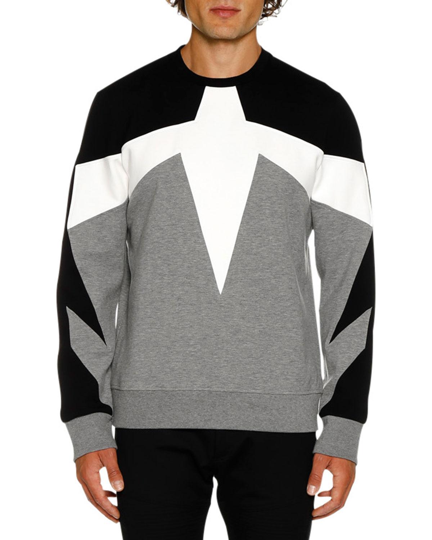 NEIL BARRETT Men'S Modernist N21 Sweater in Gray/Black