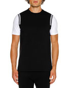 Neil Barrett Men's Varsity Short-Sleeve T-Shirt