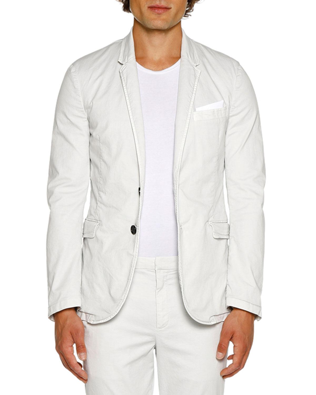 NEIL BARRETT Men'S Sb Two-Pocket Day Jacket in Off White