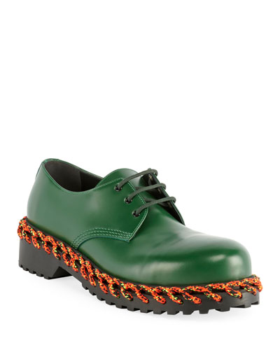 Men's Braided Derby Shoes