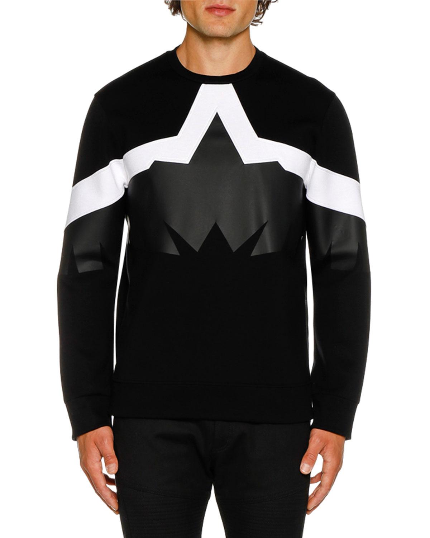 NEIL BARRETT Men'S Framis Golden Eagle Graphic Sweater in Multi