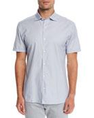 Ermenegildo Zegna Men's Woven Short-Sleeve Sport Shirt