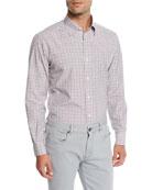 Ermenegildo Zegna Men's Vichy Check Sport Shirt