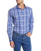 Ermenegildo Zegna Men's Plaid Check Sport Shirt