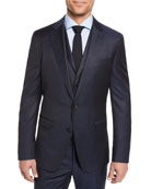 BOSS Men's Check Three-Piece Suit