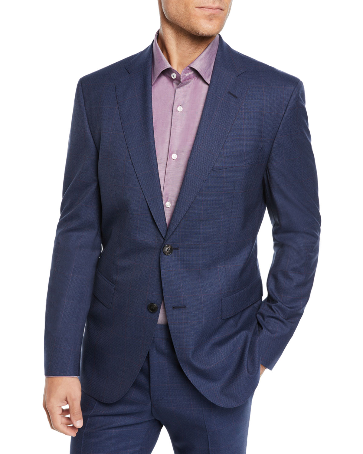 Two-Piece Berry Window Suit