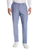 BOSS Men's Washed Linen Pants