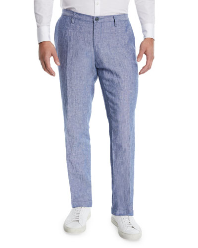 Men's Washed Linen Pants