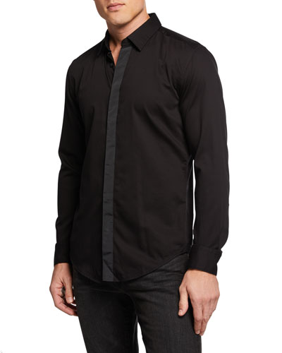 Men's Ronni Solid Slim Fit Cotton Dress Shirt