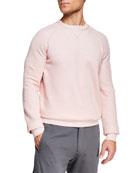 Ermenegildo Zegna Men's Cotton/Cashmere Crewneck Sweater