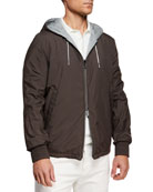 Ermenegildo Zegna Men's Puddy Reversible Wind-Resistant Jacket