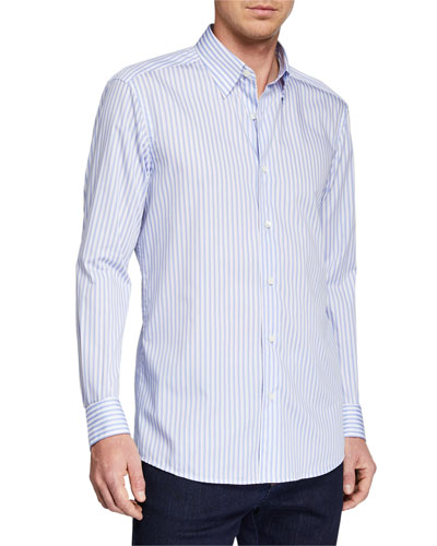 c2b86197fe3a67 Quick Look. Ermenegildo Zegna · Men's Striped Sport Shirt