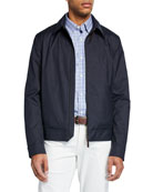 Ermenegildo Zegna Men's Barracuda Zip-Front Jacket