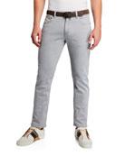 Ermenegildo Zegna Men's Gray-Wash Five-Pocket Trim-Fit Jeans