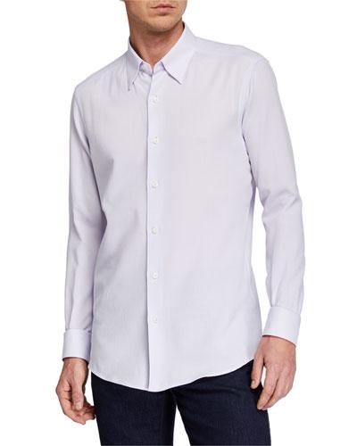 Men's Solid Regular-Fit Sport Shirt, Purple