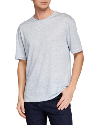 Men's Linen-Blend Heathered T-Shirt
