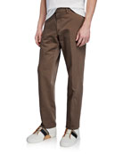 Ermenegildo Zegna Men's Linen-Blend Straight-Leg Trousers