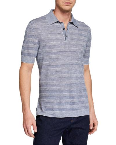 120a7aff967b1 Quick Look. Ermenegildo Zegna · Men's Striped Polo Shirt ...