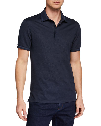 Men's Silk-Blend Jersey Polo Shirt