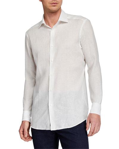 15e7940a3a2b Fitted Linen Shirt | Neiman Marcus