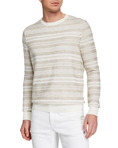 Men's Striato Striped Crewneck Sweater