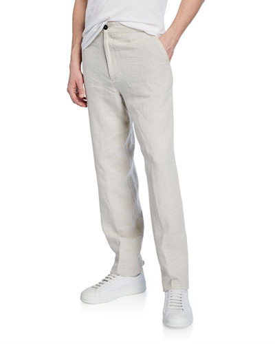 Men's Linen Drawstring Pants