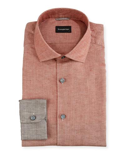 Men's Degrade Linen/Cotton Sport Shirt