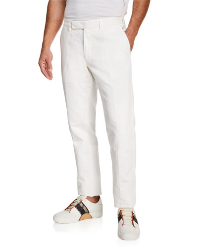 Men's Casual Cotton/Linen Trousers