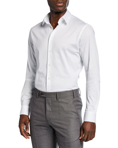 Men's Solid Jersey Sport Shirt