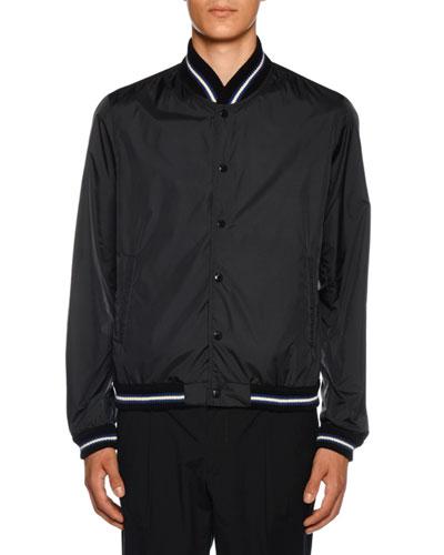 Men's Dubost Bomber Jacket with Varsity Stripes