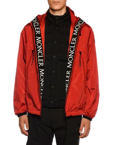 Men's Massereau Nylon Jacket w/ Logo Lining Trim