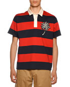 Moncler Men's Paradise Patch Rugby Polo Shirt