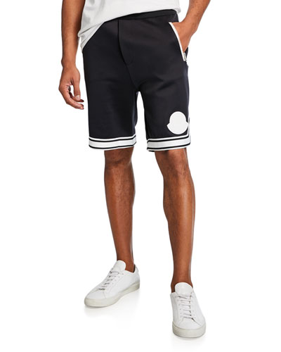 Men's Contrast-Trim Track Shorts