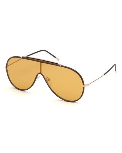 Men's Mack Shield Metal Sunglasses