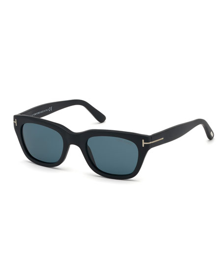 TOM FORD Men's Snowdon Square Plastic Sunglasses