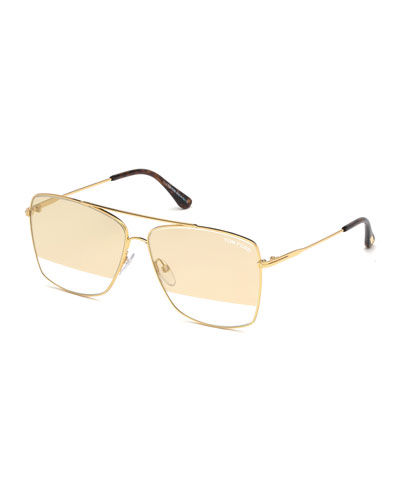 Men's Magnus Golden Metal Sunglasses