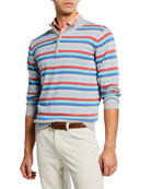 Peter Millar Men's Summer Stripe Zip Shirt