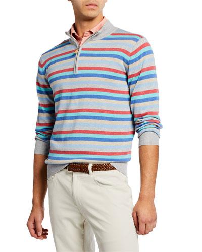 Men's Summer Stripe Zip Shirt