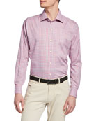 Peter Millar Men's Point Danger Check Sport Shirt