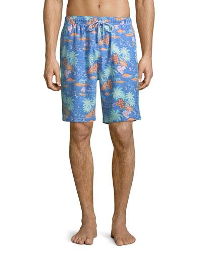 74d9a5acf2d05 Quick Look. Peter Millar · Men's Hawaiian Sunset Swim Trunks. Available in  Blue