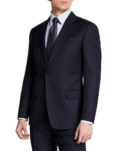 Men's Two-Piece Super 130s Stripe Suit