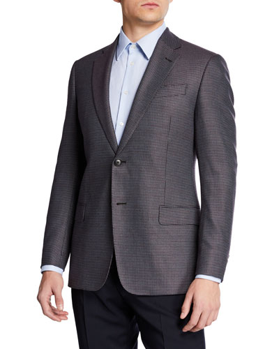 Men's Multi-Box Neat Bamboo Sport Coat