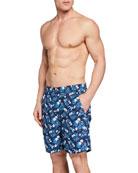 Peter Millar Men's Floral Print Swim Trunks