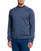 Peter Millar Men's Amalfi Raglan Sweater