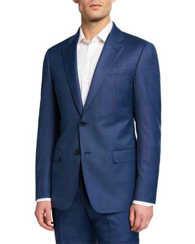Men's G Line Super 130s Wool Sharkskin Two-Piece Suit