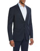 BOSS Men's Double Faced Slim Travel Two-Piece Suit