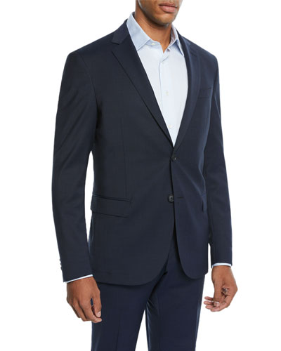 Men's Double Faced Slim Travel Two-Piece Suit